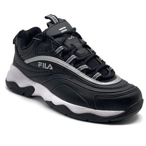Fila Ray 319 Trainers Women's Shoes (Black/ White)